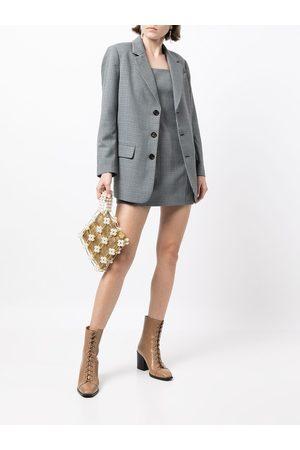 B+AB Women Blazers - Check-patter dress and blazer set - Grey