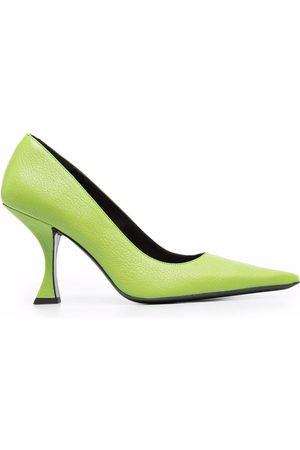By Far 90mm sculpted-heel pumps