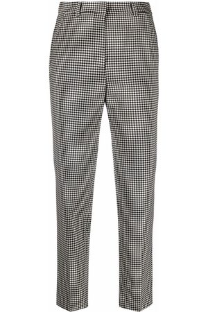 Incotex Women Formal Pants - Gingham check tailored trousers