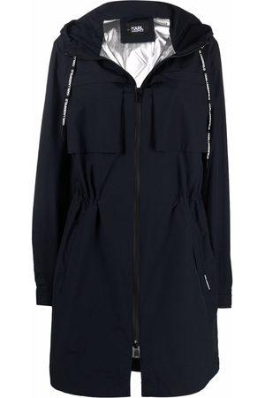 Karl Lagerfeld Logo-print parka coat