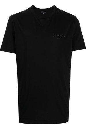 Armani Men T-shirts - Logo-print cotton T-shirt