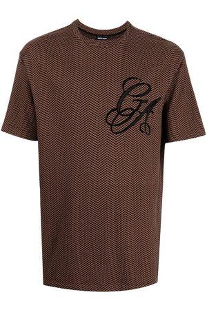 Armani Men T-shirts - Geometric-print logo T-shirt