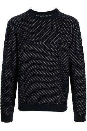 Armani Men Sweatshirts - Logo-embroidered jacquard jumper