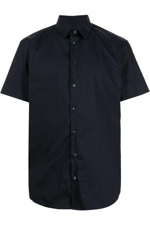 Armani Men Short sleeves - Short-sleeve cotton-blend shirt