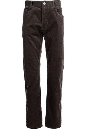 Armani Corduroy straight-leg trousers
