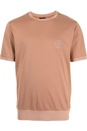 Armani Men T-shirts - Logo-embroidered cotton T-shirt