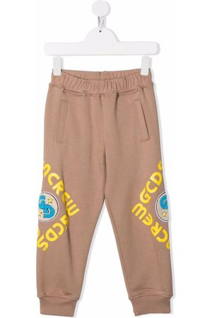 GCDS Boys Sweatpants - Graphic-print track trousers - Neutrals