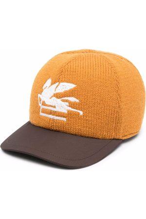 Etro Men Caps - Embroidered logo knit cap