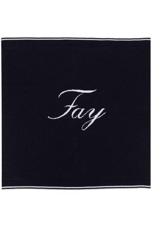 FAY KIDS Logo-knit sleeping nest blanket