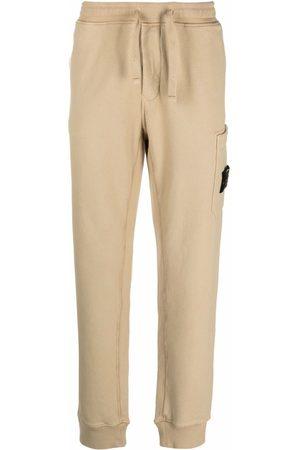 Stone Island Men Cargo Pants - Logo-patch cargo-pocket track pants - Neutrals