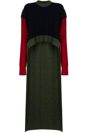 Colville Draped step-hem wool jumper - Multicolour