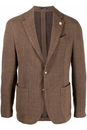LARDINI Men Blazers - Single-breasted fitted blazer