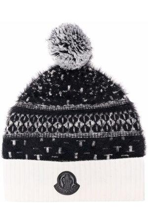 Moncler Logo-plaque wool beanie