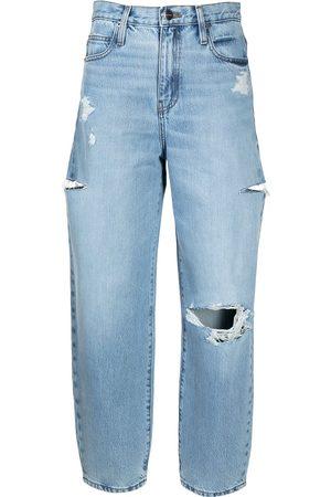 Frame Women High Waisted - Ultra-high rise barrel leg jeans