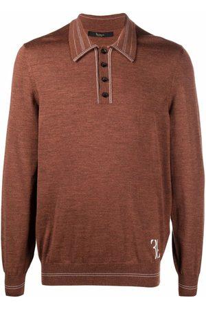 BILLIONAIRE Men Polo Shirts - Logo-embroidered merino polo shirt