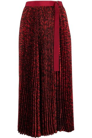 SACAI Women Printed Skirts - All-over print pleated skirt