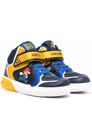 Geox Boys Sneakers - Super Mario colour block hi-top sneakers