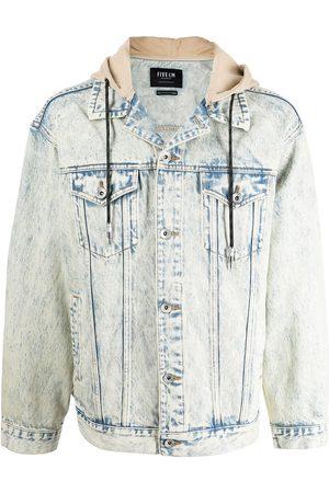 FIVE CM Men Denim Jackets - Contrasting hooded denim jacket