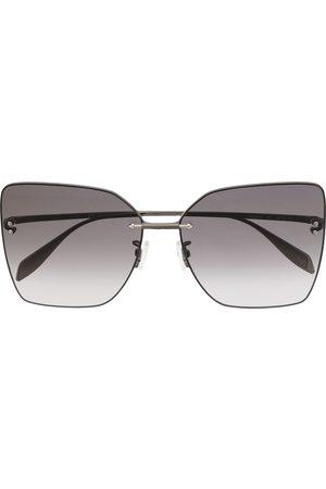 Alexander McQueen Women Square - Square-frame gradient sunglasses - Grey