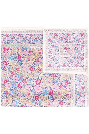 Isabel Marant Women Scarves - Abel floral-print silk scarf - Neutrals