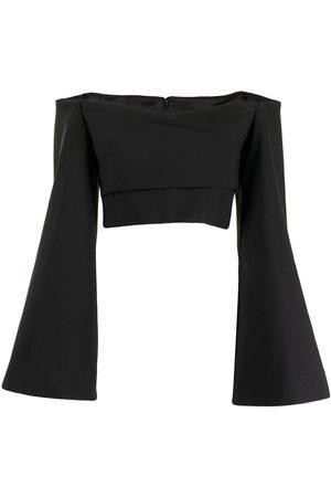 Solace Women Blouses - Asten wide-sleeve cropprd blouse