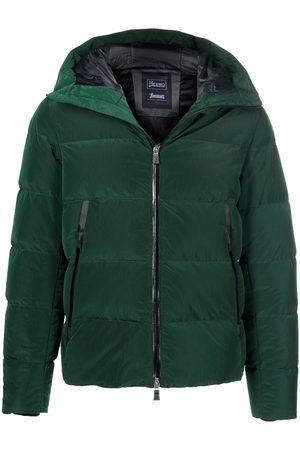 HERNO Men Puffer Jackets - Zip-pockets hooded padded jacket