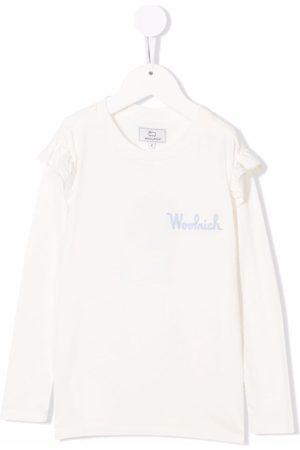Woolrich Girls Long Sleeve - Embroidered-logo long-sleeve T-shirt