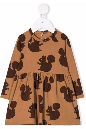 Mini Rodini Baby Printed Dresses - Squirrel-print flare skirt dress