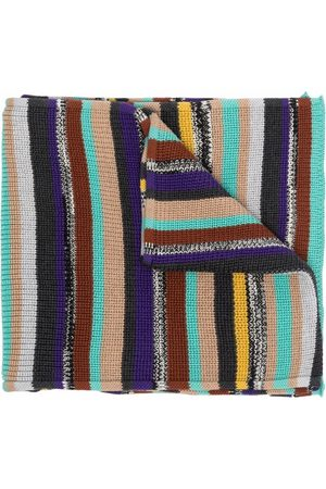 Missoni Men Scarves - Knitted striped scarf - Neutrals