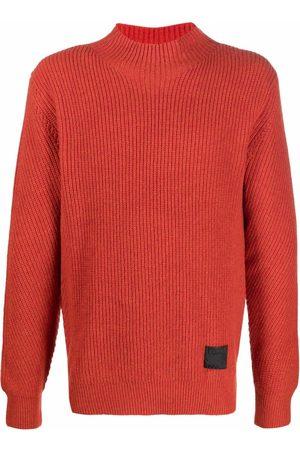 PAUL SMITH Men Sweatshirts - Logo-patch wool jumper