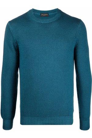 DELL'OGLIO Rib-trimmed crew-neck jumper
