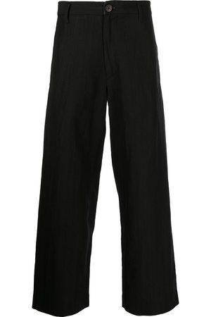ZIGGY CHEN Cropped wide-leg trousers