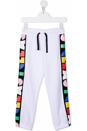 Stella McCartney Boys Sweatpants - Logo-stripe track pants