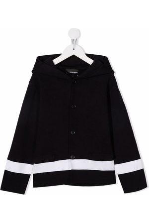 Emporio Armani Cardigans - Hooded stripe cardigan
