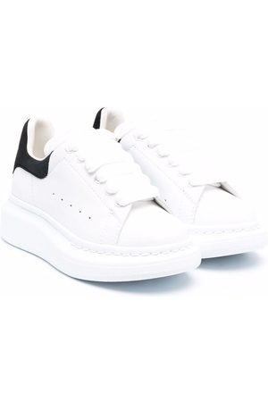 Alexander McQueen Boys Sneakers - Oversized leather sneakers