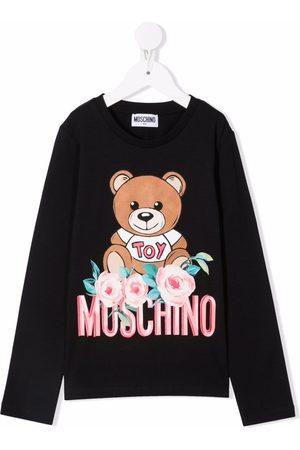 Moschino Long-sleeve teddy top