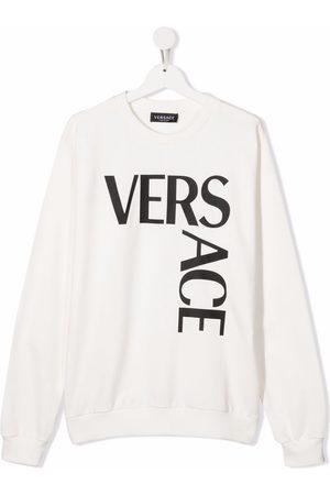 VERSACE Boys Long sleeves - Logo long-sleeve sweatshirt