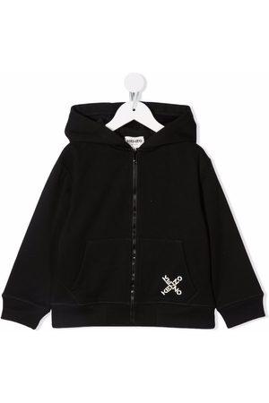 Kenzo Boys Hoodies - Rear logo-print hoodie