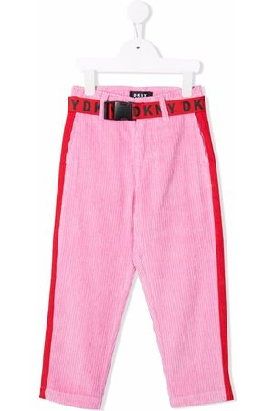 DKNY Girls Pants - Belted corduroy trousers