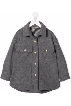 Mimisol Girls Coats - Button-down shirt coat - Grey