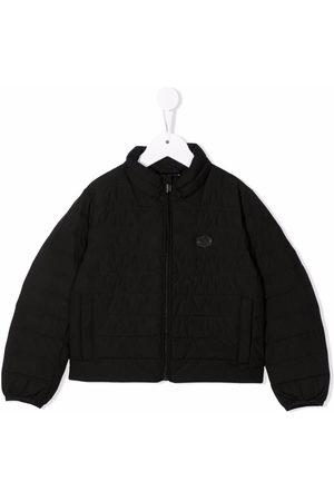 Emporio Armani Boys Bomber Jackets - Logo-patch bomber jacket