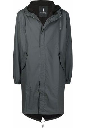 Rains Press-stud hooded raincoat - Grey