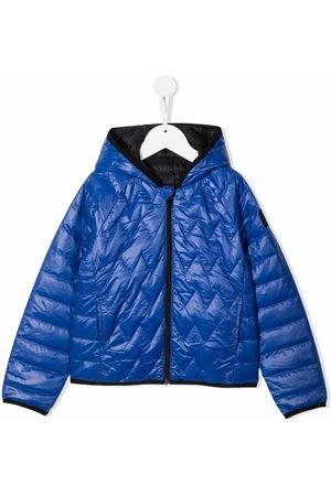 HUGO BOSS Boys Puffer Jackets - Quilted-finish puffer jacket