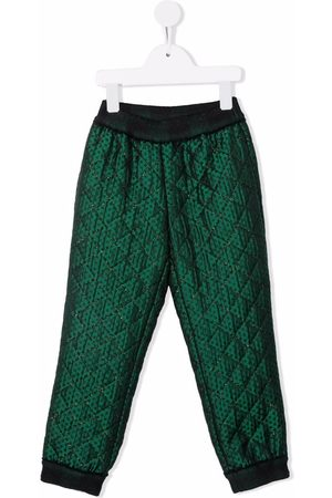 Mimisol Girls Pants - Quilted-effect trousers