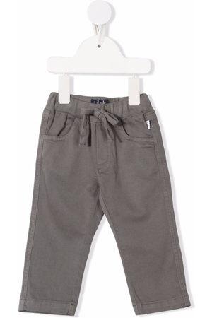 Il gufo Drawstring-fastening chino trousers - Grey