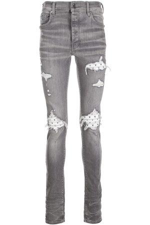 AMIRI X Playboy ripped-effect skinny jeans - Grey