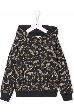 BONPOINT Animal-print cotton hoodie - Grey