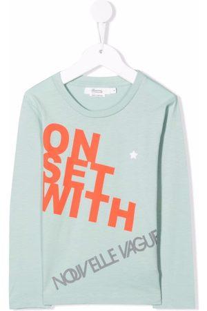 BONPOINT Boys T-shirts - Slogan-print cotton T-shirt
