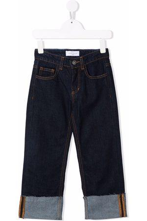 GAËLLE Logo-print straight leg jeans