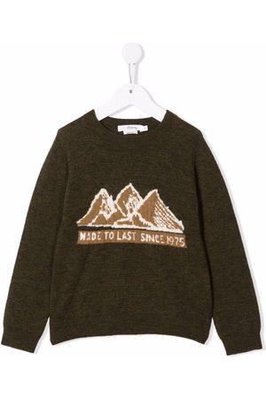 BONPOINT Boys Hoodies - Slogan-print long-sleeved sweater